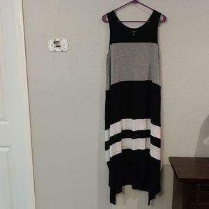 Simply Vera Vera Wang T-shirt Maxi Tank Dress, XL